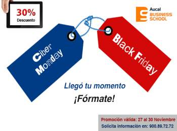 En Aucal Business School irrumpe el Black Friday y el Ciber Monday