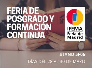 INISEG presente en la Feria de Posgrado y Formación Continua de IFEMA | Iniseg